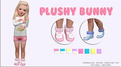 Socks with a Plushy Bunny Many thanks @emysimss for allowing me convert your creation! ———————————————————- ORIGINAL TS3:HERE ———————————————————- DOWNLOAD(female/male)