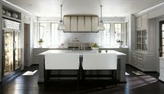 White Industrial Kitchen Design Ideas, Pictures, Remodel, and Decor - page 11 Sofa Design, Interior Design, Interior Ideas, Interior Inspiration, Interior Architecture, Beautiful Kitchens, Cool Kitchens, Dream Kitchens, Industrial Kitchens
