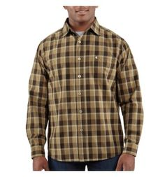 Carhartt - Product - Men's Washed Bellevue Plaid Slim Long-Sleeve Shirt