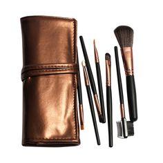2016 Professional 7pcs Makeup Brush Set Tools Make-up Toiletry Kits Cosmetic Makeup Brushes For Face/Eye/Lip