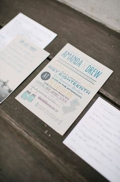 I like the modern look with the typography.  sample custom rustic wedding invitation