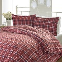 4-Piece Check Flannel Sheet Set by Laura Ashley