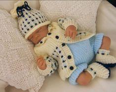 Baby Knitting Pattern Boys Girls Reborn von PreciousNewbornKnits