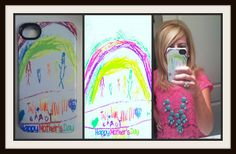 You can turn your children's artwork into a one-of-a-kind iPhone, iPad or iPod case at GetUncommon.com --How fun!! Would make the perfect mother's day gift!