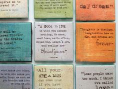 """Quote Art/Coaster (4x4) """"A good life is when you assume nothing, do more, need less, smile often, dream big, laugh a lot,..."""