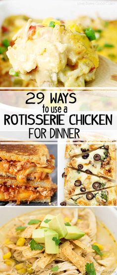 Make dinner for your family and friends with one of these recipes - as long as you hide the empty chicken container, no one will ever know you used a Rotisserie Chicken! Yummy Recipes, Healthy Recipes, Cooking Recipes, Yummy Food, Cooking Videos, Tasty, Costco Rotisserie Chicken, Rotisserie Chicken Casserole Recipe, Turkey Recipes