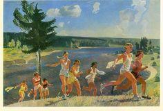 Alexander Deineka - girls running