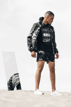 How to be outstanding and obvious with camouflage, with the BALR. Camo Swim Shorts that is perfect for your beach days Military Fashion, Mens Fashion, Camo Bomber Jacket, High End Fashion, Beach Day, Swim Shorts, Street Styles, Camouflage, Menswear