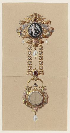 Alexis Falize | Design for a Chatelaine with Watch (ca. 1875)