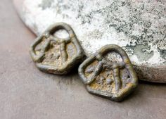 Rustic Jewelry Charms  OOAK Handmade Metalwork by Inviciti on Etsy