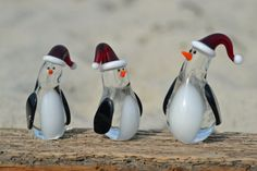 Glass Penguin Figurines by RandaGlass on Etsy