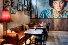 You can recognize restaurant MAMASan by the beautifull lady on wall and they have a really nice asian cuisine. MAMA san is located in Seminyak.