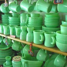 Reminds me of my grandmother! She had this dinnerware forever! pyrex vintage | Jadeite, Pyrex, vintage glassware / Jadeite