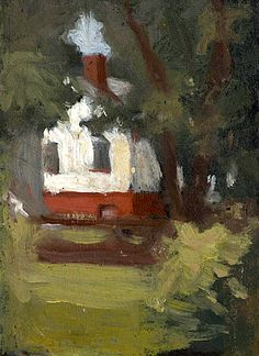 bofransson:    EDWARD HOPPER House and Tree, 1905
