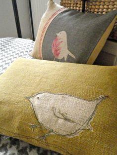 Wren pillows; adorable!
