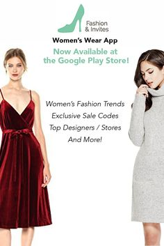 Fashion & Invites-Women's Wear App, displays thousands of trendy clothing items and accessories, provides articles on current fashion trends, featuring top designers, and includes ready-to-use exclusive sale / discount codes for designer styles and top stores
