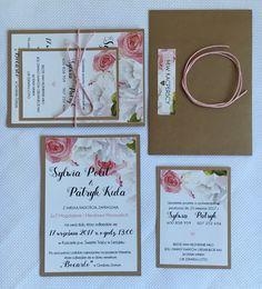Zaproszenia ślubne: kwiatowe, rustykalne, różowe, słodkie i delikatne ❤️