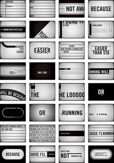 Storyboards : Jan Avendano in Typography & Graphic Design