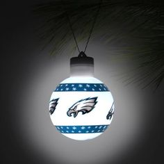 Philadelphia Eagles LED Light Up Ball Ornament