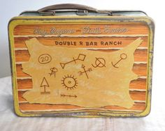 AE Vintage Roy Rogers Dale Evans Double R Bar Ranch Metal Lunchbox
