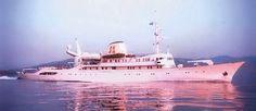 Christina O. Yep, a Greek yacht sailing the Mediterranean.