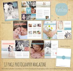 THIS MARKETING SET BUNDLE contains: 1. 12 Page Photography Studio Welcome Magazine 2. Photography Business Forms and Contracts  3. 9 Piece Print