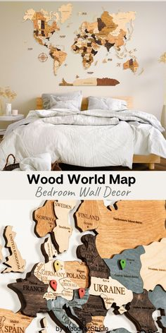 World Map wall decor by WoodPecStudio. Travel push pin maps for wall office decor, bedroom and living room rustic decor, hallway decoration. World maps from wood for wall decor in farmhouse style. Home Decor Wood Wall Art Wall Map of the World Map Wooden Travel Push Pin Map Rustic Home 5th Anniversary Farmhouse Decor ThanksgivingGift #worldmap #bedroomdecor #art