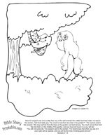 """Adam and Eve Coloring Pages """"Bible Story Printables Website"""""""