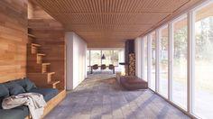 Summerhouse project in Denmark #3D-Vizual, #Architecture #3dvisualizations #render #interior #summerhouse