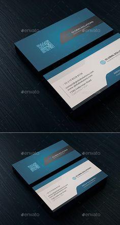 Corporate Business Card 4  — PSD Template #color #creative #designer card #blue…