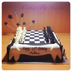 Chess Board cake for a really smart 13 year old