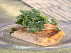 Smoked Turkey, Brie, and Apricot Quesadilla recipe from Sandra Lee via Food Network