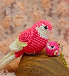 Crochet Animal Amigurumi, Crochet Animal Patterns, Knitted Animals, Stuffed Animal Patterns, Amigurumi Patterns, Amigurumi Doll, Crochet Dolls, Crochet Parrot, Crochet Birds