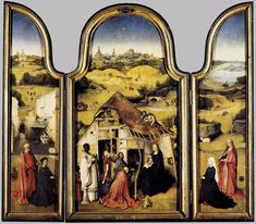 Bosch- Triptych of the Adoration of the Magi  c. 1510  Oil on wood, 138 x 72 cm (central), 138 x 34 cm (each wings)  Museo del Prado, Madrid