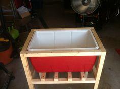 Rustic Cooler l Deck Cooler, Pallet Cooler, Wood Cooler, Cooler Stand, Outdoor Cooler, Cooler Box, Outside Furniture, Backyard Furniture, Diy Outdoor Furniture