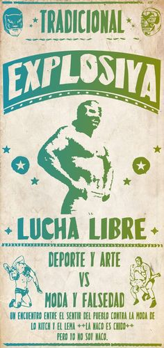 lucha libre poster - Bing Images