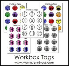 Workbox Tags Printables - Mama Jenn