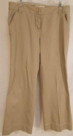 $19.95 12R Khaki Pants J. Crew Classic Twill Favorite Fit Medium Rise Chino