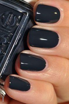 dark grey nail varnish