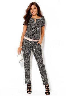 Overal s krátkymi rukávmi a potlačou #ModinoSK #coverall #fashion #overal #moda #damskamoda #trend #style #original