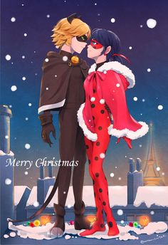 Ladybug and Cat Noir's Merry Christmas in their new winter coats from Miraculous ladybug and Cat Noir Miraculous Ladybug Kiss, Miraculous Ladybug Wallpaper, Meraculous Ladybug, Ladybug Comics, Tyler Posey, Adrien Miraculous, Ladybug Und Cat Noir, Adrien Y Marinette, Daniel Radcliffe