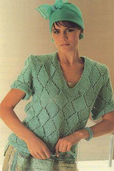 Womens Sweater Top PDF Knitting Pattern : Ladies 34 36 inch