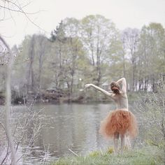 "Perhaps one of my favorite photos ever: so ephemeral. ""Lady in a Lake"" photographer Savannah Daras. #tutu #crinoline"