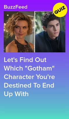 """Which """"Gotham"""" Character Is Your Soulmate? Family Quiz, Bat Family, Quotev Quizzes, Gotham Bruce, Gotham Characters, Bruce And Selina, Gotham Series, Dr Spencer Reid, Quizzes For Fun"""