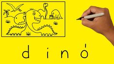 How to turn word DINO into a Cartoon Words, Horse