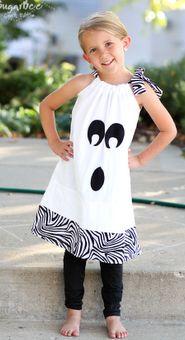 DIY pillowcase ghost dress - so easy, so cute!