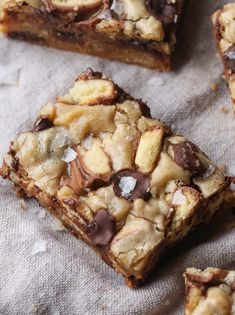 Twix Blondies are sweet and chewy with bits of crunchy shortbread throughout. You can even top them with flaked sea salt for a perfect sweet & salty bite!