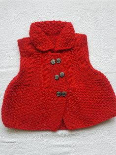 FREE SHIPPING Handmade wool Baby Girl red  Sweater cardigan 6-18 month's Acrylic Yarn ready to ship by SpecialhandmadTurkey on Etsy