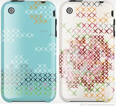 Cross Stitch Inspired iPhone Cases, designed by @Jenny Hart, Sublime Stitching Blogger for @Uncommon.