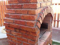 Barbecue Design, Brick Bbq, Brick Patterns, Pergola, Stairs, Backyard, Decoration, Outdoor Decor, Oven